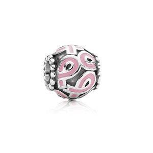 Pandora breast cancer awareness charm